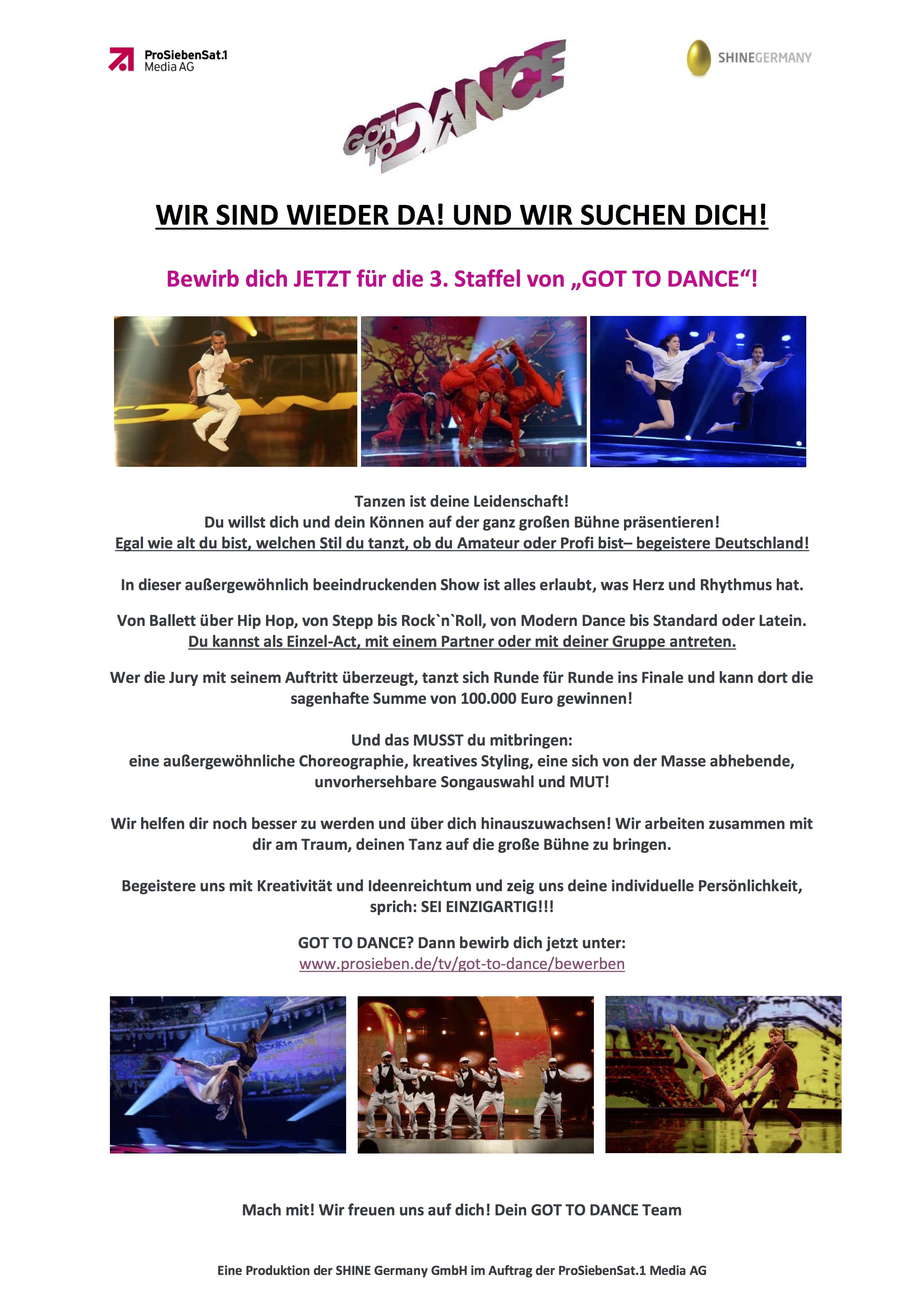 Got to Dance III - Wir suchen Dich