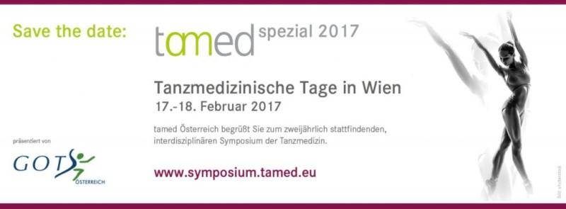 "tamed spezial Symposium ""Tanzmedizinische Tage"" | Wien | 17.-18. Feb 2017"